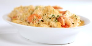 Lobster Macaroni & Cheese dish