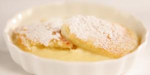 Image of lemon pudding dessert