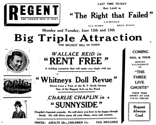Advertisement from the Ontario Reformer, June 10, 1922