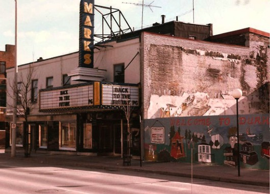 Marks Theatre, 1985, shortly before it was torn down.