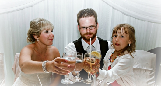 Jenn, Chris and Mackenzie do the toast!